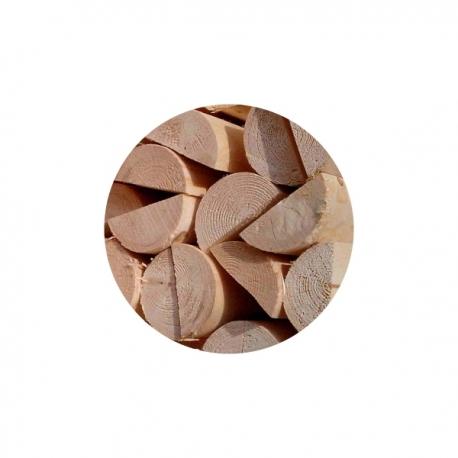 Dřevěná půlkulatina, výška 150 cm, průměr 6 cm