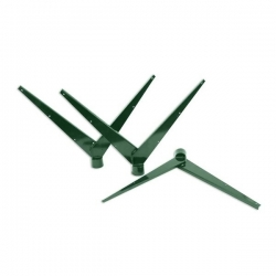 """Bavolet """"Y"""" Al+PVC na kulatý sloupek 60 mm"""