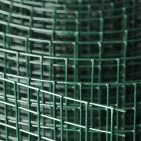 Svařované čtyřhranné poplastované pletivo 19x19 mm, drát 1,4 mm