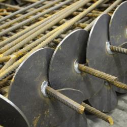 Vinohradnická kotva zavrtávací 850 mm, disk 120 mm