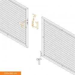 Brána dvoukřídlá zahradní 2000x3600 mm, se zámkem