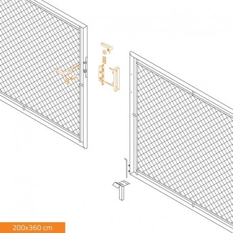 Brána dvoukřídlá zahradní GARDEN 3600x2000 mm, se zámkem