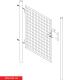 Branka jednokřídlá zahradní SOLID 980x1073 mm