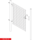 Branka jednokřídlá zahradní SOLID 1500x1000 mm