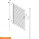 Branka jednokřídlá zahradní IDEAL 950x1085 mm