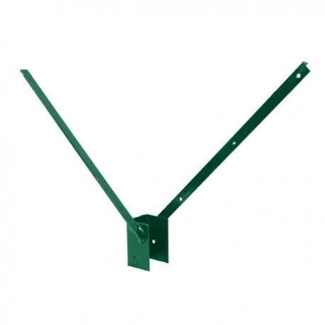 Bavolet Al+PVC na sloupek 60x40 mm